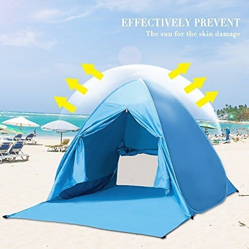 on sale a218f e53ed Pop Up Tent Beach Sun Shelter Portable UV Protection Shade Cabana for  Outdoor
